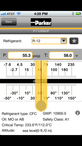 ChillMaster P-T Chart