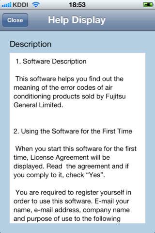 Fujitsu Error Code Application
