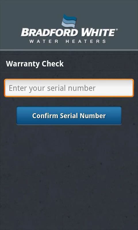Bradford White Mobile Warranty Checker