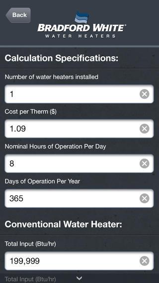 Bradford White eF Series® Efficiency Calculator