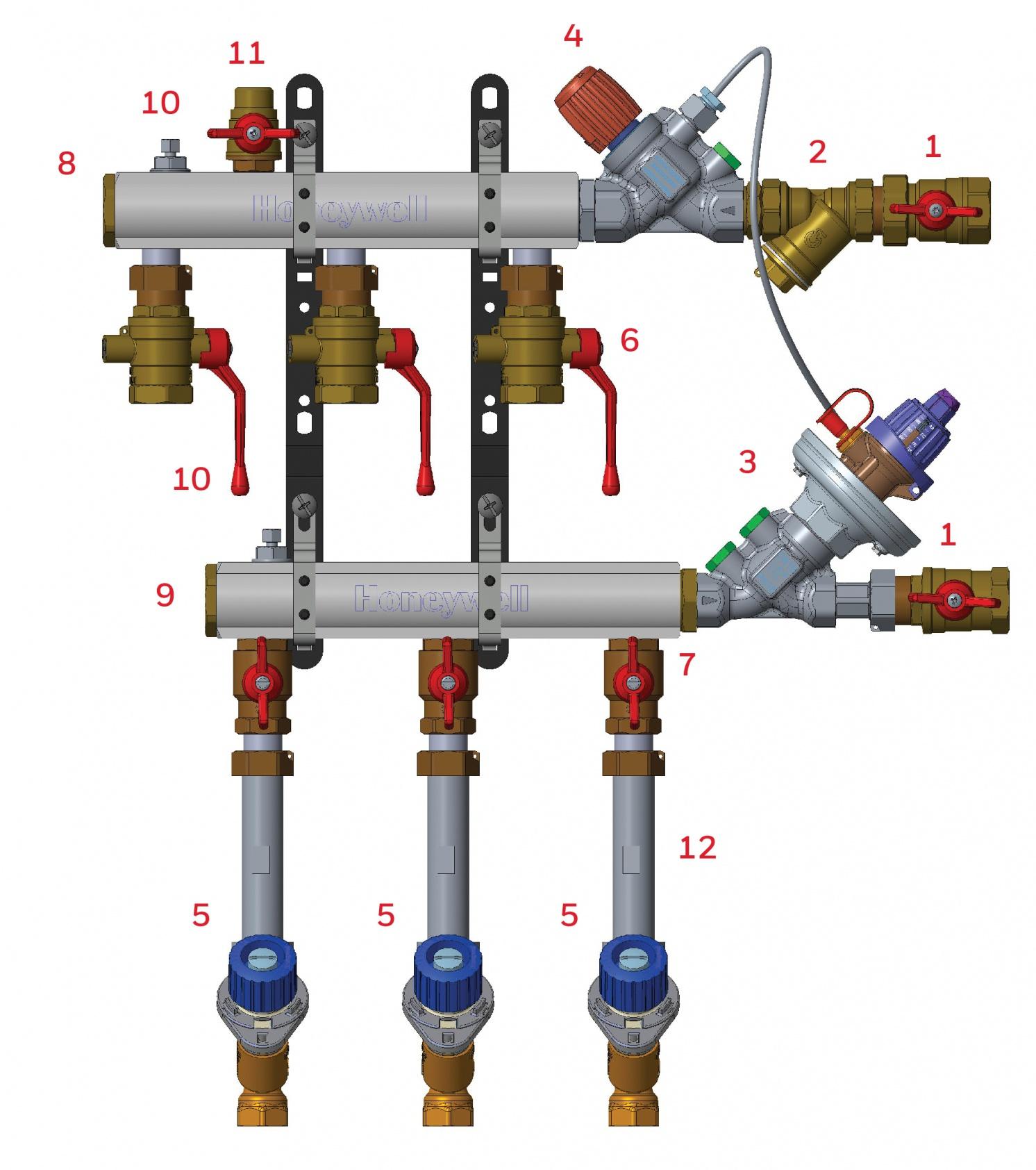 Коллекторный узел Honeywell поквартирного учета тепловой энергии типа MDU: впечатляющая компактность, гарантированное качество . 1/2018. Фото 1