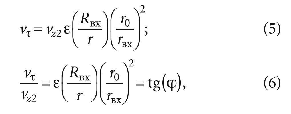 Основные положения теории расчёта параметров струезакручивающих аппаратов. 12/2017. Фото 6