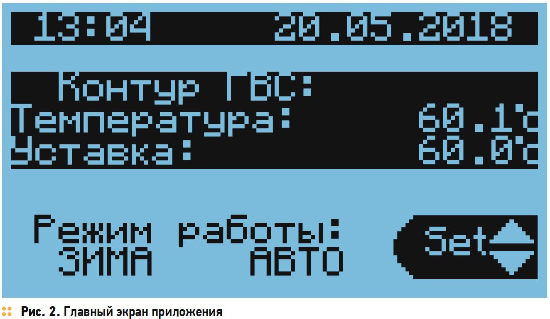 Главный экран приложения