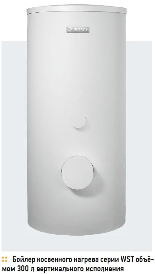 Бойлер косвенного нагрева серии WST объёмом 300 л вертикального исполнения