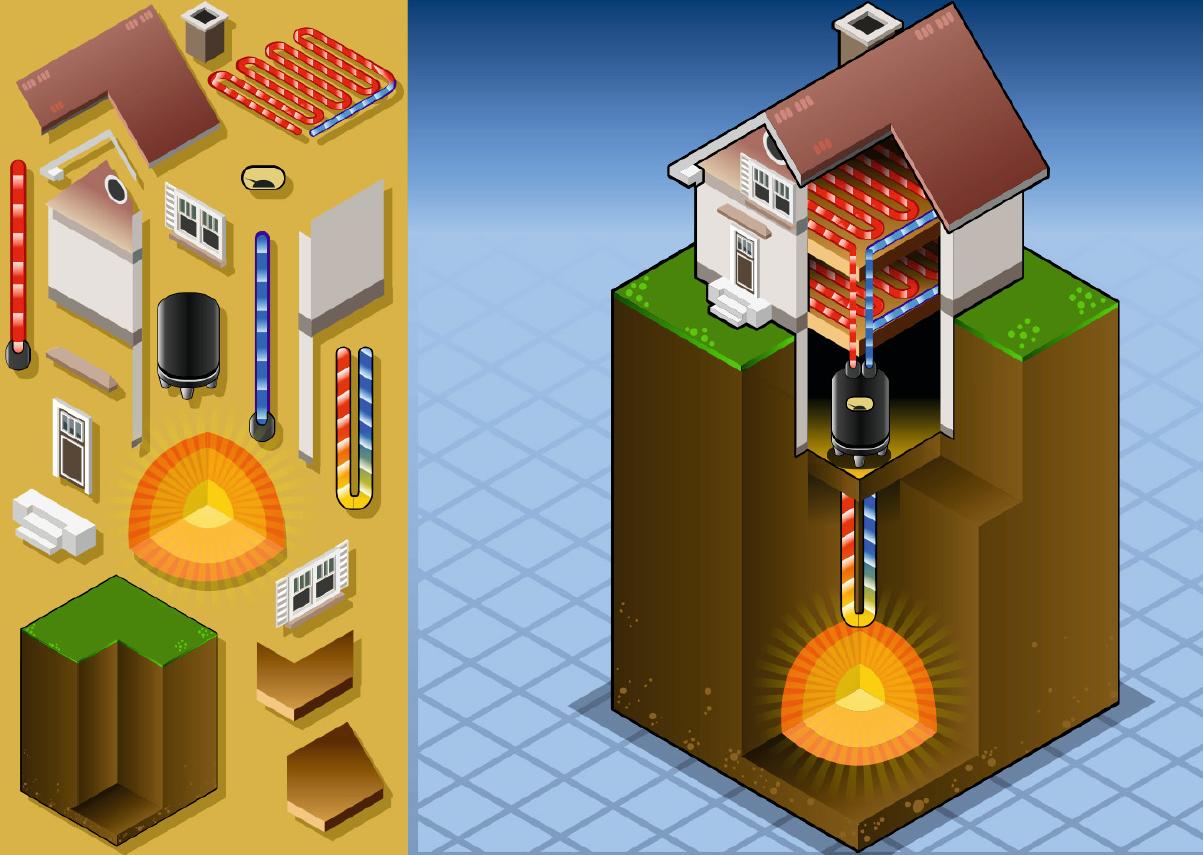 Исследование влияния свойств грунта на эффективность теплообменников вертикальных скважин для теплонасосных установок в COMSOL Multiphisics. 10/2018. Фото 1