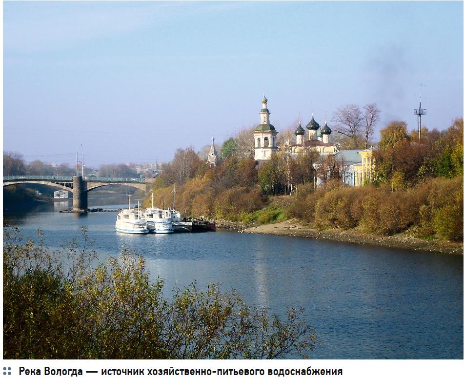 Река Вологда — источник хозяйственно-питьевого водоснабжения