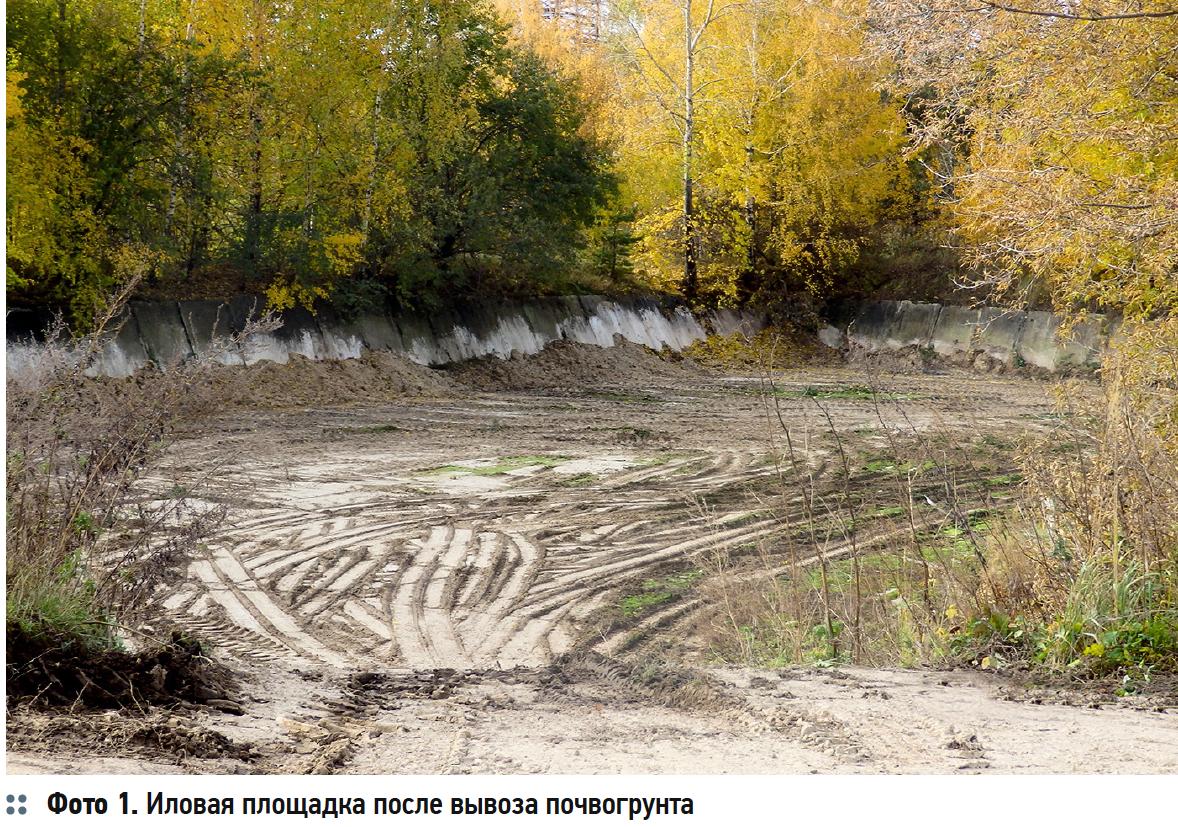 Иловая площадка после вывоза почвогрунта