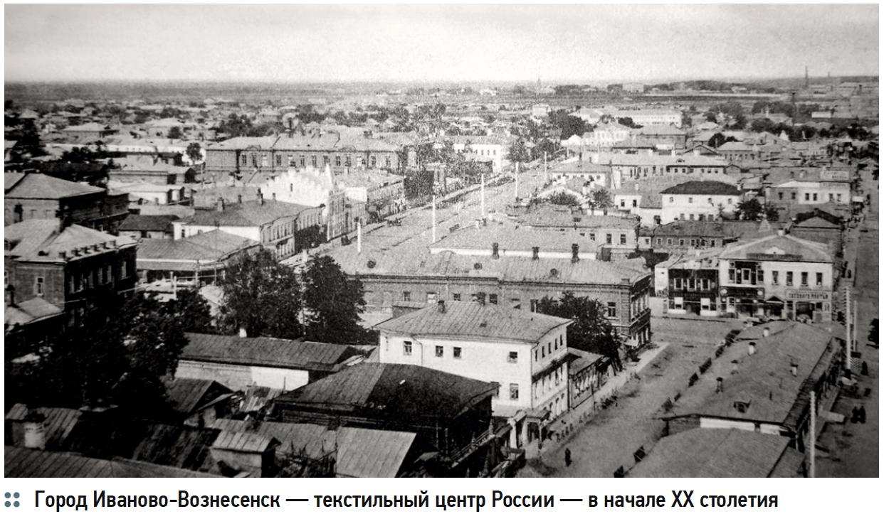 Город Иваново-Вознесенск — текстильный центр России — в начале XX столетия