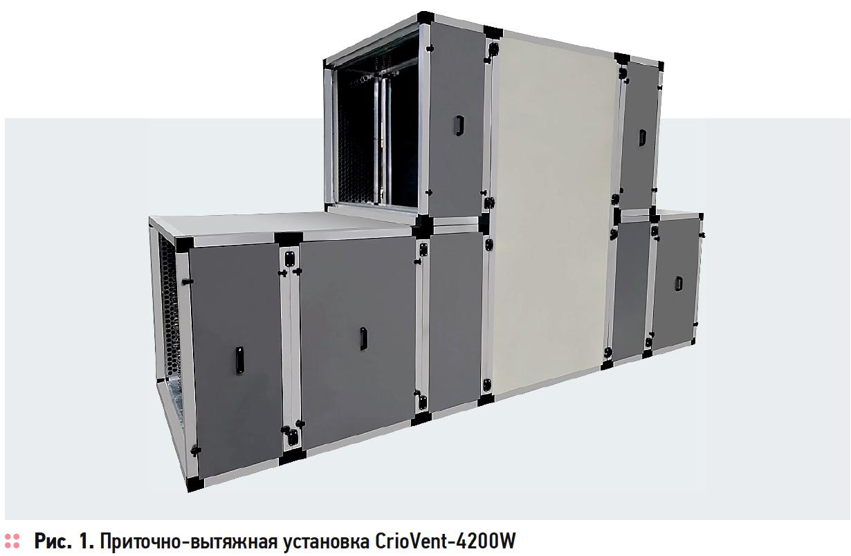 Приточно-вытяжная установка CrioVent-4200W