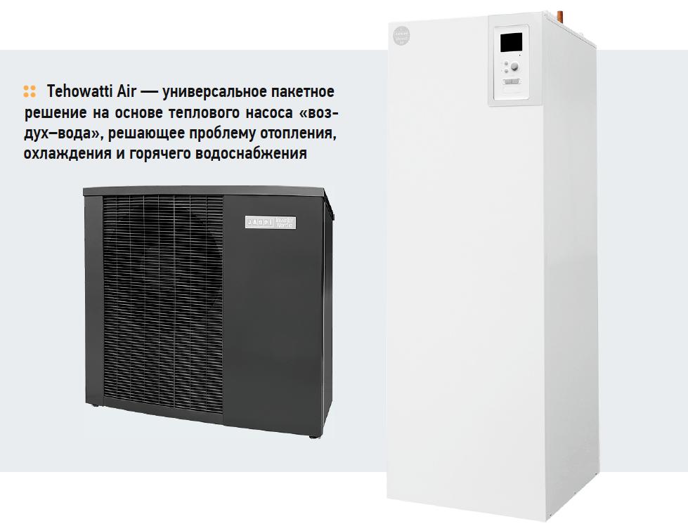 Tehowatti Air — универсальное пакетное решение на основе теплового насоса «воздух–вода», решающее проблему отопления, охлаждения и горячего водоснабжения