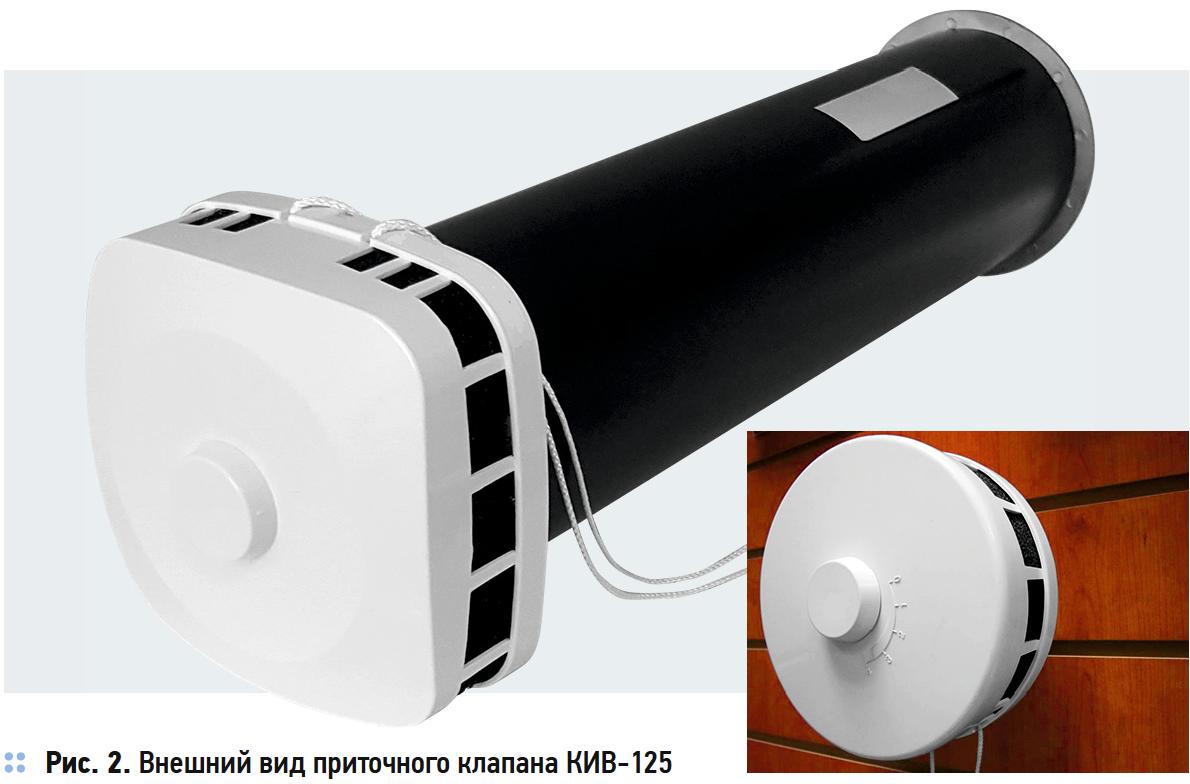 Внешний вид приточного клапана КИВ-125
