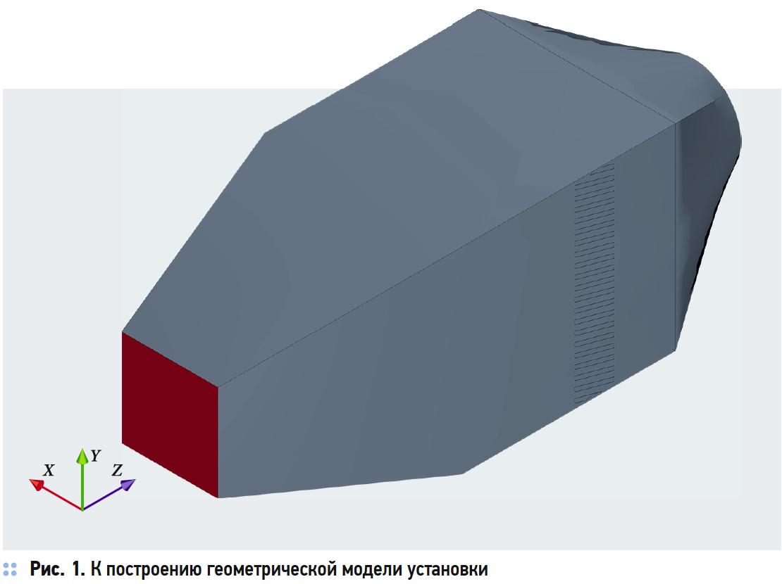К построению геометрической модели установки