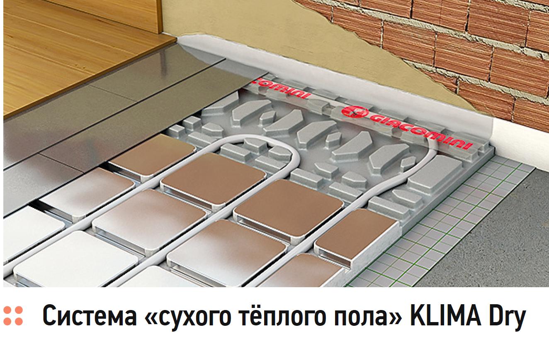 Система «сухого тёплого пола» KLIMA Dry