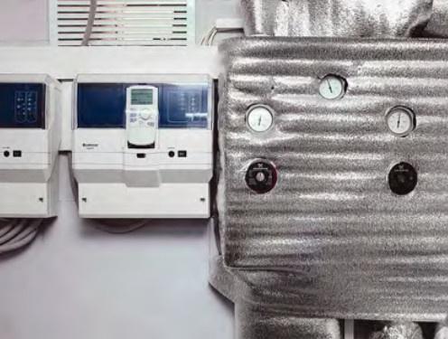 Погодозависимая автоматика Buderus Logamatic EMS и распределительная  насосная группа Meibes с насосами Grundfos наивысшего  класса энергоэффективности «А»