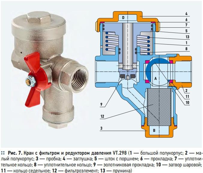 редуктором давления VT.298