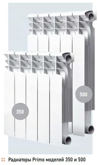Радиаторы Primo моделей 350 и 500