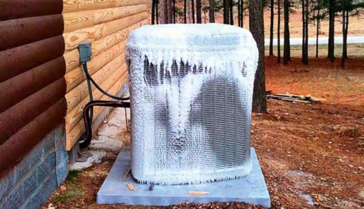Теплообменник «воздушного» ТН. А ведь еще даже не зима…
