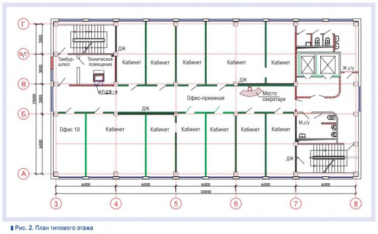 Рис. 2. План типового этажа