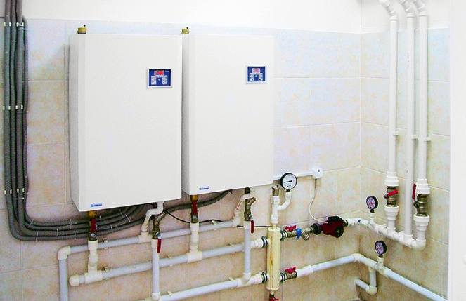 соединение газовых котлов в каскад схема