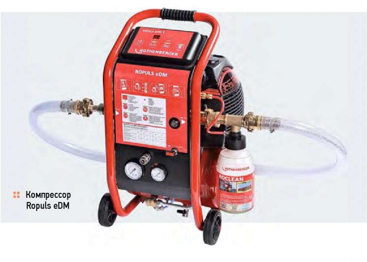 Очистка систем отопления с помощью промывочных компрессоров . 9/2015. Фото 1