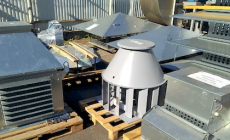 Laboratory testing of aerodynamics of serial roof fans