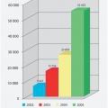 Рис. 1. Реализация продукции AKIRA в России, в тыс. долларов США .