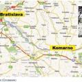 Рис. 1. Карта расположения г. Комарно (Словакия)