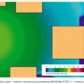 Рис. 1. Зоны шума — спальня – внутрипольный конвектор ISAN Oplflex FLT 20-11 — cтепень мощности