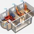 Исследование применения воздушных клапанов в квартире жилого здания в холодный период