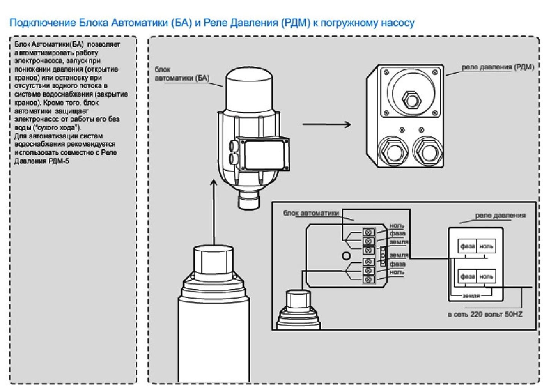 Схема управления гидрофора ps 01c