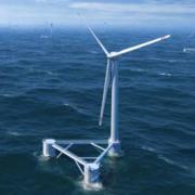 Плавучая ветровая турбина в Португалии Фото №1