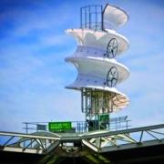 Ветротурбина в форме штопора Фото №1