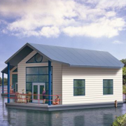 Плавучий дом на солнечных батареях Фото №1