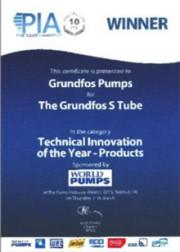 Рабочее колесо GRUNDFOS S-tube стало технической инновацией 2013 года Фото №1