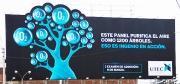 Воздухоочистительный рекламный щит установленный в Лиме