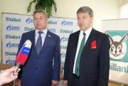 Класс открыли Максим Шахов, генеральный директор ООО «Вайлант Груп Рус» (справа), и Николай Воробьёв
