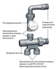 Терморегулирующий узел для двухтрубной системы Фото №1
