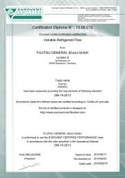 Мультизональные системы GENERAL сертификат Eurovent Фото №1