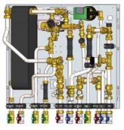 Инновационный тепловой пункт KaMo WK-VRV  для трехтрубных  систем Фото №2