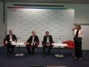 Слева направо: Сергей Цвелодуб, Хансъюрген Оверштольц, Уве Рашке, Юлия Голубцова