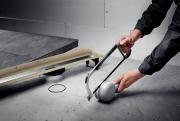 Удобная возможность быстрого уменьшения монтажной высоты душевого лотка позволяет устанавливать его