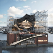 Модель Эльбской филармонии показывает уникальную конструкцию этого многоцелевого здания. Его снабжаю