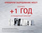+1 год к гарантии при покупке оборудования WOLF