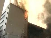 """На севере Москвы сгорело производственное здание """"Русклимат"""""""