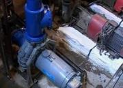 На главной канализационной станции устанавливают новое оборудование