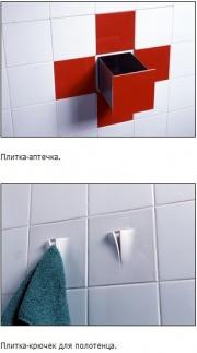 Придуманы кухонно-ванные аксессуары из плитки Фото №1