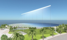 The huge Sun Ray collector for 220 households in Melbourne