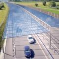 Солнечные крыши над автомагистралями