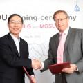 г-н Дахюн Сонг, Президент LG Electronics в России, и Валерий Иванович Теличенко, ректор МГСУ